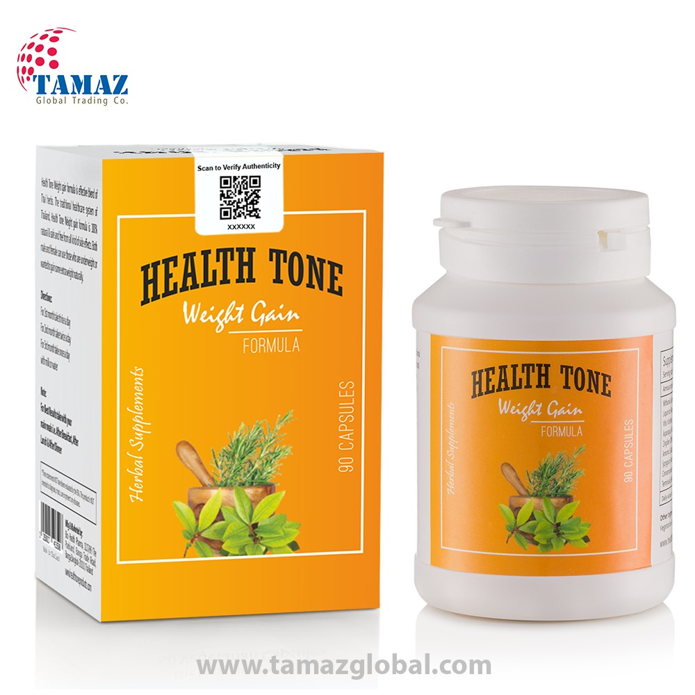 Health Tone Weight Gain Capsules With Security Seal