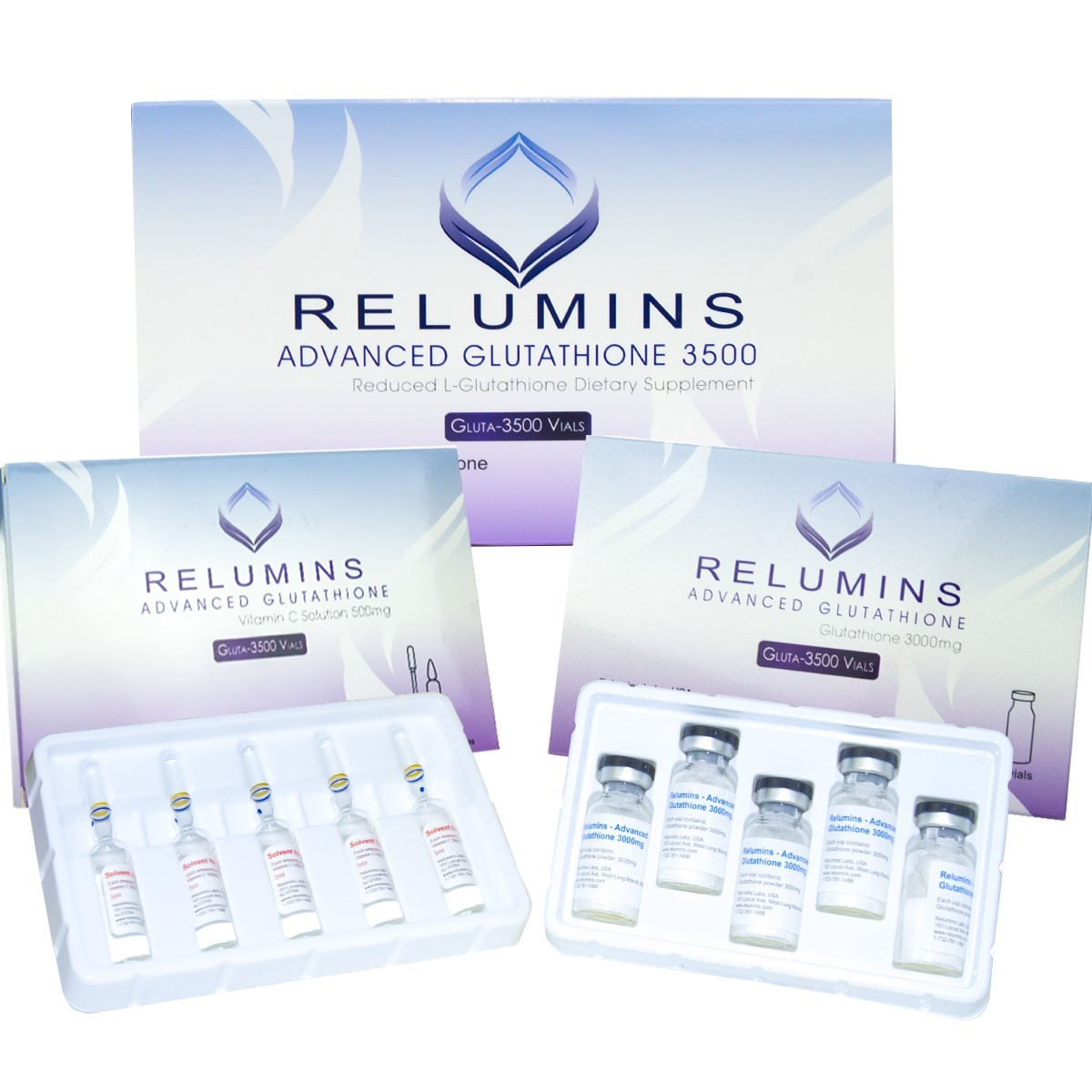Authentic Relumins 3500mg Glutathione Injections
