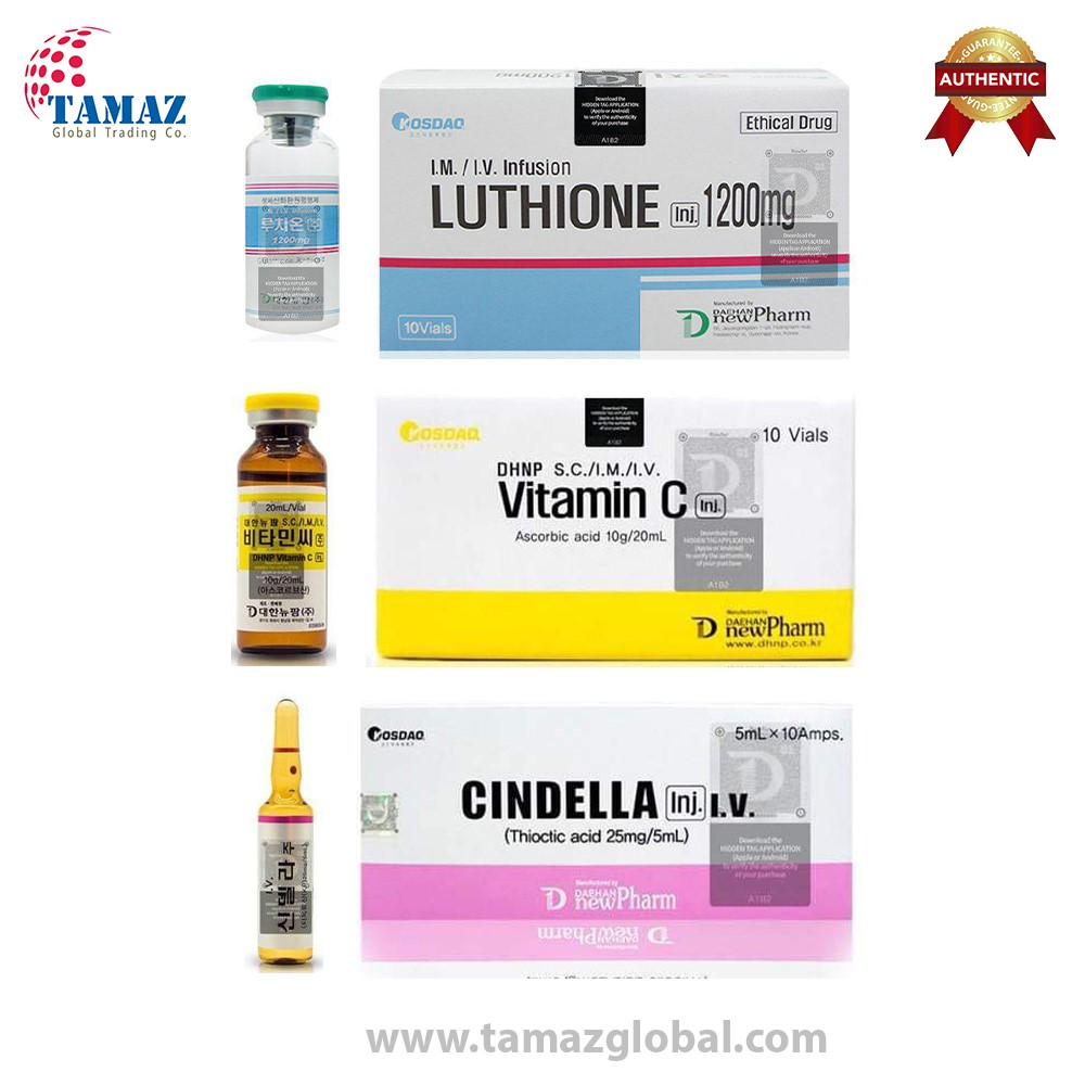 Original Cindella 1200mg Glutathione Injections With Square Seal