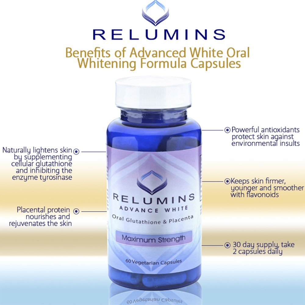 Relumins Advanced White Oral Glutatione and Placenta Capsules
