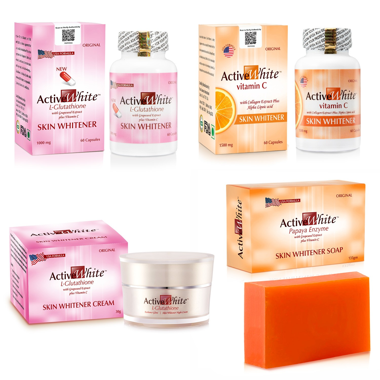 Active White L Glutathione Skin Whitening Cream